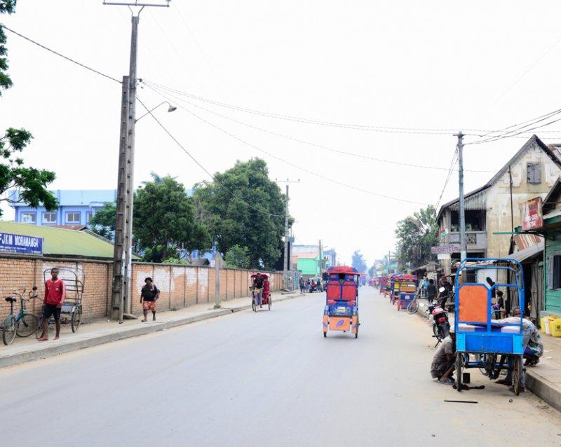 Rikscha Fahrer Madagaskar