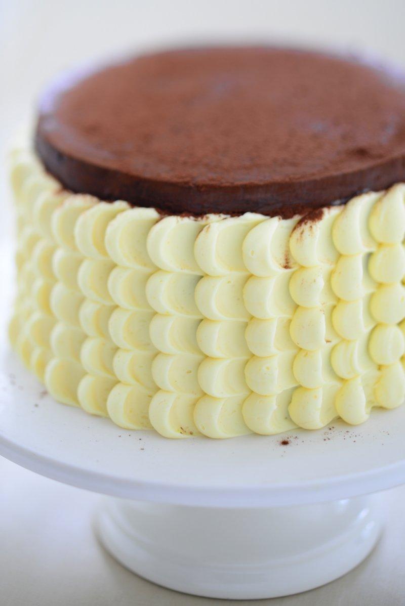 Safran Torte Schokoladenmousse
