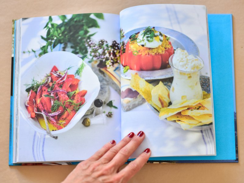 lauwarme Räucherpaprika, Tomaten mit Bulgur, Gewürz Yufka